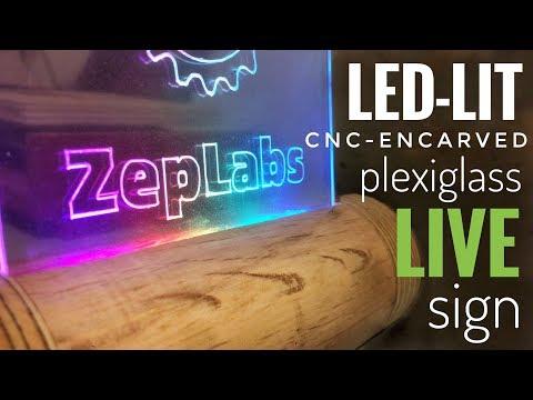 ZepLabs: Live Led-Plexi Sign