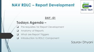 Day 01 - How To Develop  RDLC Report in Microsoft Dynamics NAV  - Introduction