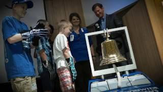 Patients Thank Dale Earnhardt, Jr. for Bell
