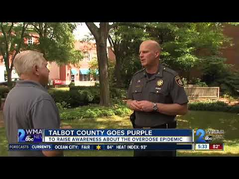 Talbot County goes purple to raise awareness about the overdose epidemic