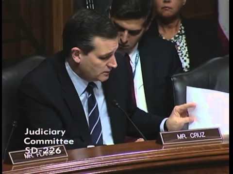 Sen. Ted Cruz Questions DHS Secretary Jeh Johnson at a Judiciary Hearing