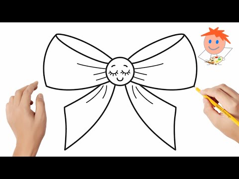 how-to-draw-a-ribbon-bow-easy-step-by-step-|-drawing-for-kids-❤️