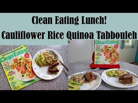 Clean Eating: Cauliflower Rice Quinoa Tabbouleh