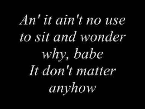 Bob Dylan - Don't Think Twice, Its All Right - Karaoke