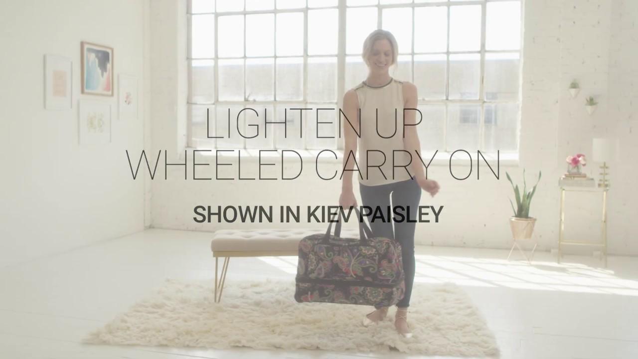 30c9f2274a Vera Bradley Lighten Up Wheeled Carry On - YouTube