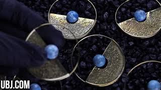 Meridian Turquoise Sphere Brass Earrings / Hangers | UrbanBodyJewelry.com