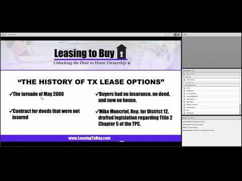 Texas Lease Option Webinar 0 0