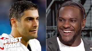 Frank Clark: The Chiefs knew Jimmy Garoppolo wouldn't come back in the Super Bowl | First Take