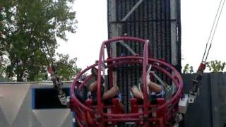 Sling Shot in Kings Island Amusement Park Mason Ohio.