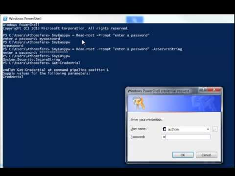 How to use Passwords and SecureStrings in PowerShell