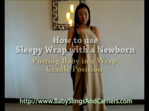 How To Use Sleepy Wrap For Cradle Carry Position Youtube