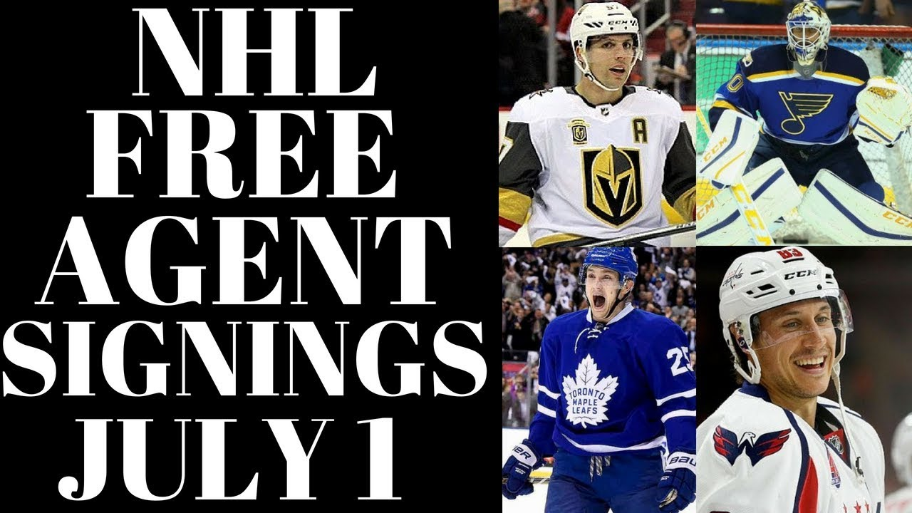 Nhl Free Agents 2018 Early Signings July 1