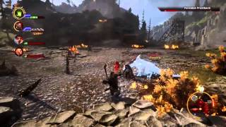 Dragon Age Inquisition: First dragon fight. (Xbox One gameplay)