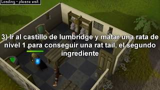 Guia para hacer la quest (mision) Witch's Potion [Spanish] - Runescape