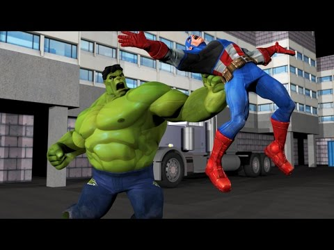 Captain America VS Hulk - Animation Film - Fight Scene!
