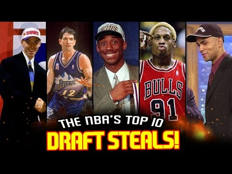 The 10 BIGGEST DRAFT STEALS In NBA History!