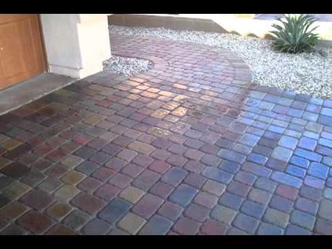 Sealing Paver Driveway @ 75% With Wetlook Sandlock Sealant In Mesa Arizona