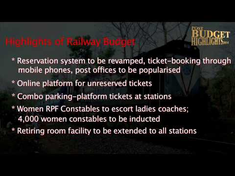 Indian Railway Budget 2014 - Highlights