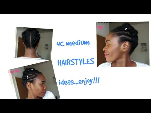 4C medium HAIRSTYLES. South African YouTuber #naturalhair #afro