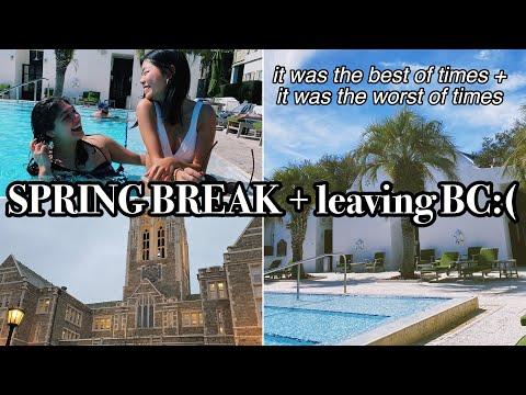 Spring Break + Leaving Boston College :(
