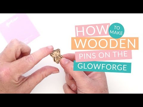 Creating Engraved Wood Pins on the Glowforge From Illustrator