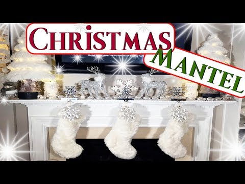 How To Decorate A Fireplace For Christmas|Mantel Decor Ideas 2017|🎄