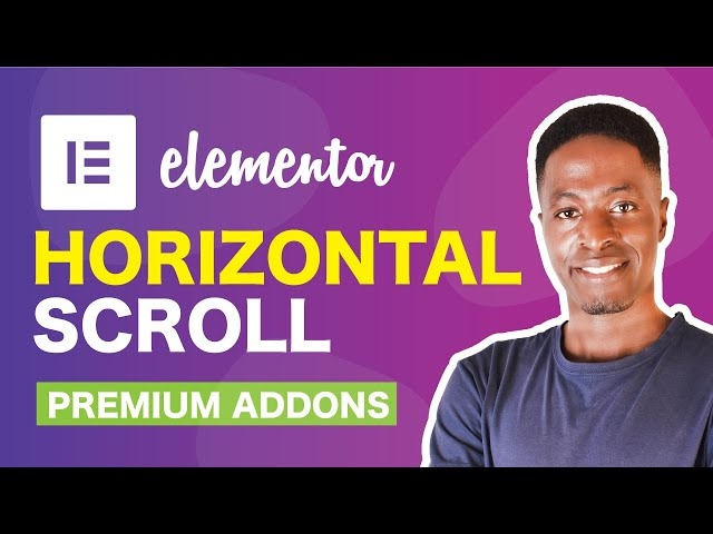 How To Create A Horizontal Scroll Section With Premium Addons For Elementor