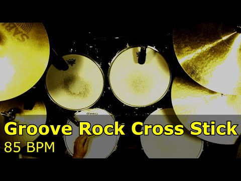 Backing Track - Groove Rock Cross Stick 85 BPM