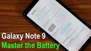 Samsung Galaxy Note 9 - How to Manage Your Battery Life (Tips & Tricks)