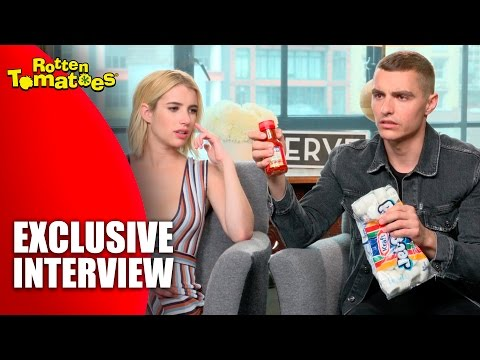 Taking Dares From The Cast Of 'Nerve' - Exclusive Interview (2016)