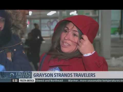 Winter Storm Grayson - Grayson Strands Travelers, Boston Weather Live - the weather channel   #NEWS