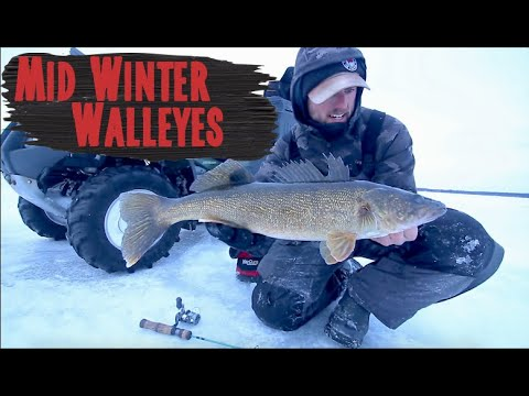 Ice Fishing For Walleyes Midwinter - How To Find And Catch Them