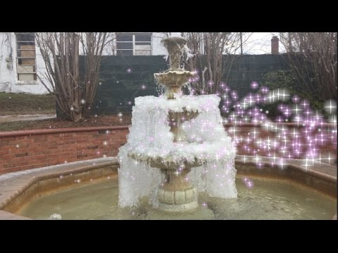 FROZEN WATER FALL( FOUNTAIN  )SOUNDS   UNUSUAL MISSISSIPPI FROZEN WATER FALL