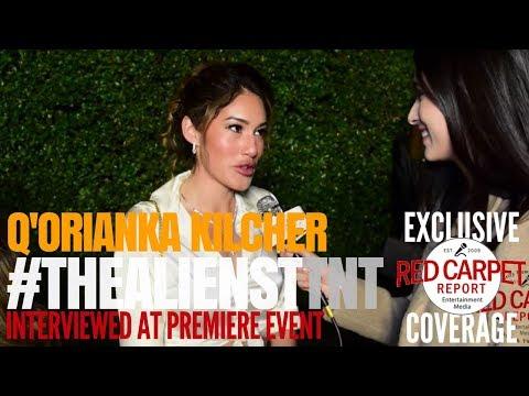 """Q'Orianka Kilcher interviewed at premiere of TNT's """"The Alienist"""" #TheAlienistTNT #WeAskMore"""