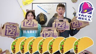 100 TACOS CHALLENGE | EATING 100 TACO BELL TACOS challenge