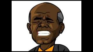 DR JOHN HENRIK CLARKE  - REVOLUTION ( CARTOON)