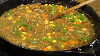 Hamburger And Vegetable Gravy - Easy Hamburger Gravy Recipe