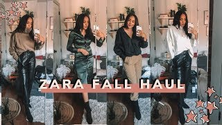 ZARA FALL HAUL + Try On & Full Outfits | Antonnette
