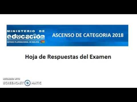 Hoja De Respuestas Examen De Ascenso De Categoria 2018 Plantilla Magisterio Bolivia Infoeduca By Enrique Lupger