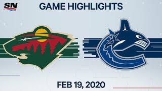 NHL Highlights | Wild vs Canucks – Feb. 19, 2020