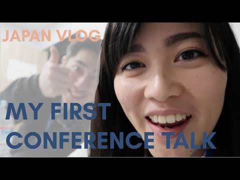 My first time speaking at a tech conference //Japan vlog