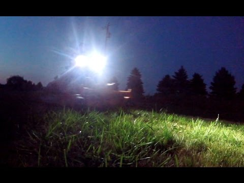 NIGHTTIME LAWN MOWING WITH LED BIKE LIGHTS ON A ZTR