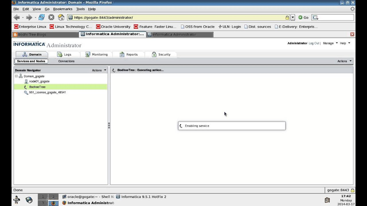 Informatica Installation On Linux - Part4 (Informatica Repository Creation)