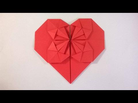 COMO HACER UN CORAZÓN DE PAPEL - How to make a origami paper heart ...