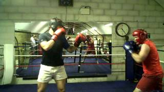 Hugo and Tom Sparring - Boodles Boxing Ball 2011