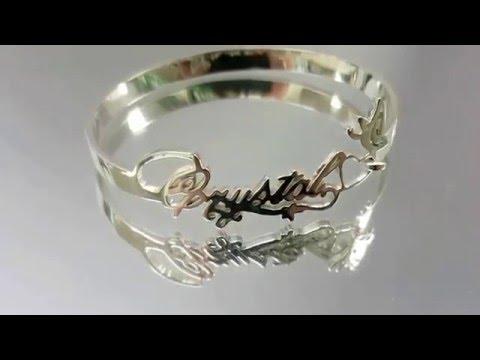 名字坊純銀DIY 名字手鐲設計  SILVER925hk.com 925 silver DIY nameplate bracelet  design