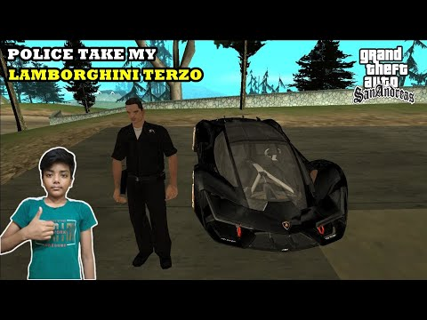 POLICE TAKE MY LAMBORGHINI TERZO | GTA SAN ANDREAS | GAMEPLAY |