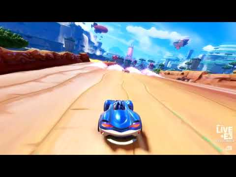 Team Sonic Racing E3 Interview With Aaron Webber and Geoff Keighley