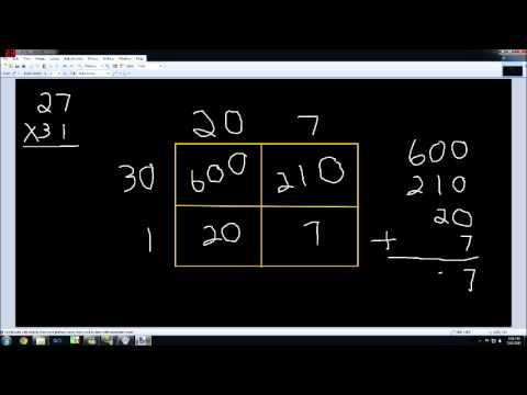 Multiplication Box Method Strategy Youtube