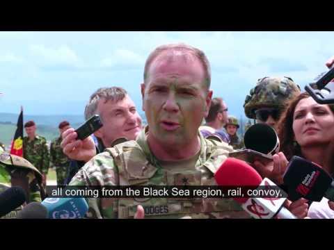 LTG Ben Hodges, Commanding General, U.S. Army Europe: Logistics & Saber Guardian 17 (open cap)